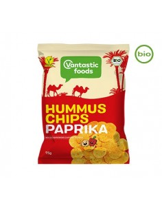 Organic houmous crisps with paprika