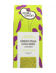 Green pea & chia seed crackers
