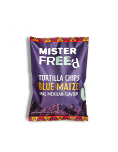 Tortilla chips with blue corn