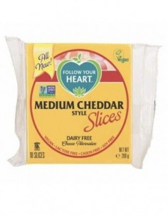 Medium cheddar slices